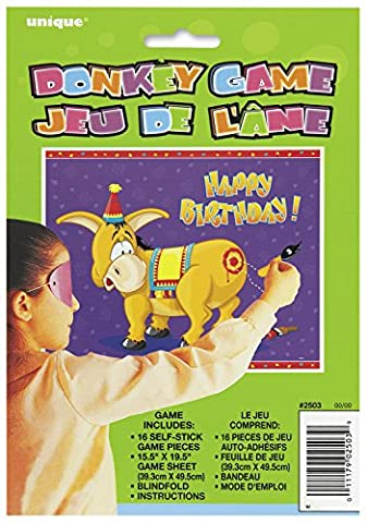 Pin the Tail on the Donkey Game for 16 by