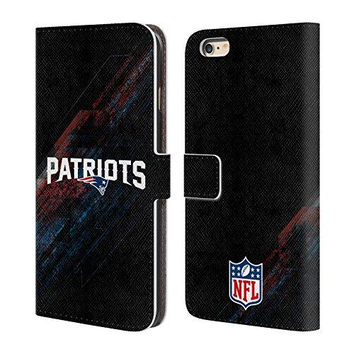 Offizielle NFL Helm New England Patriots Logo Brieftasche Handyhülle aus Leder für Apple iPhone 6 Plus / 6s Plus Unschärfe