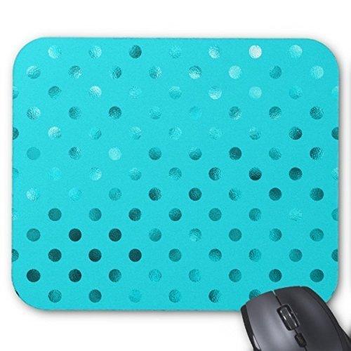 Fly Mousepad Personalisierte Mauspad Individuelle Blaugrün Blau Metallic Faux Folie Polka Dot Aqua Maus Pad Maus-pad-aqua Blau