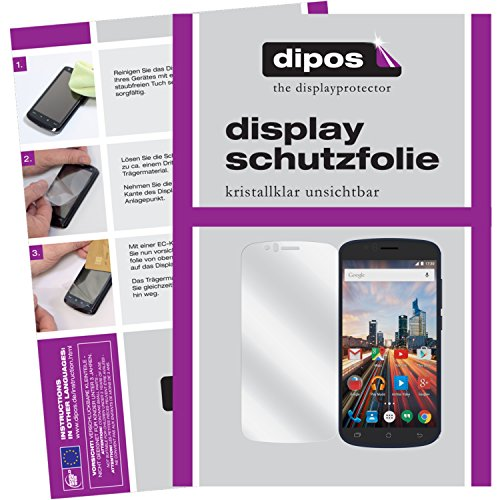 dipos I 6X Schutzfolie klar passend für Archos 50e Helium Folie Displayschutzfolie