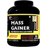 Musclemass Mass Gainer (Whey Protein) Supplement Powder - Chocolate, 3 Kg / 6.6 Lb 88 Servings
