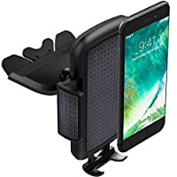 ToHayie Universal CD Slot Car Mount,Car Phone Holder for iPhone 8,iPhone X,7/7Plus/6s/6Plus/5S,Samsung Galaxy S5/S6/S7,LG and all Smartphones up to 6 inch,Black Car Cradle Mount,Pack 1