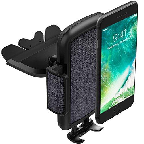 KFZ Halterung,ToHayie CD-Fach Handyhalterung Auto Halterung für iPhone 6 / 6S Plus, Samsung Galaxy S8 S5,Note 2, HTC, Bis zu 6 Zoll Smartphone, Schwarz