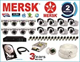 Mersk Exclusive 16 Ch Dvr and Mersk Full HD (2MP) CCTV Camera Kit with (All Required Accessories) Note : No Installation Service