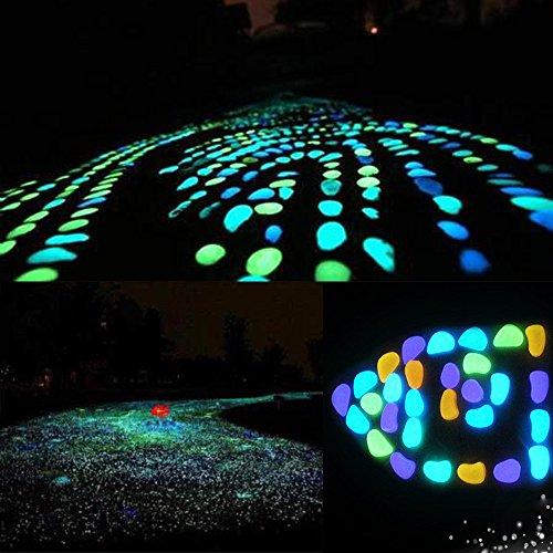 50 Stück Leuchtsteine Stein Glühen in dunklen Kiesel Valentine Dekor Home Garten Gehweg Aquarium Fisch Tank Upxiang künstliche Kieselstein