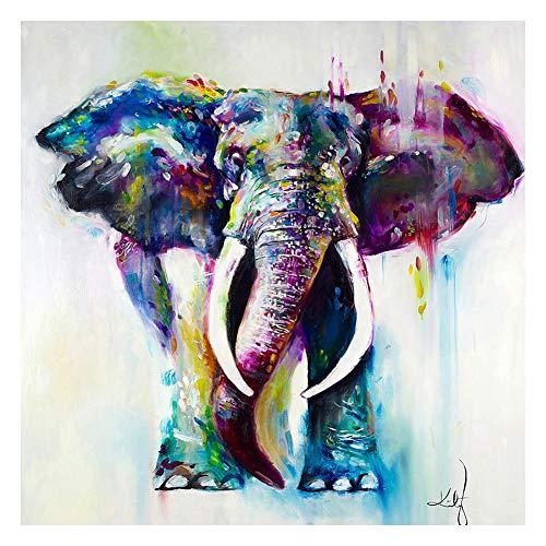 Cuadro de acuarela para decoración del hogar, animales, imágenes, elefantes, pósters, lienzo,...