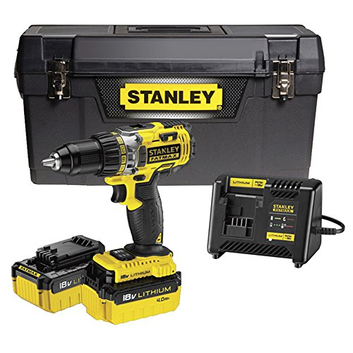 Stanley FatMax fmc600m2p-qw fmc600m2p-qw-coffret taladro atornillador 18V Litio ion-batterie y cargador 60minutos, Negro Amarillo