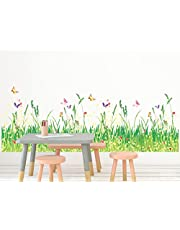 Solimo Wall Sticker for Home (Grassland,  ideal size on wall ,  100 cm X 35 cm)