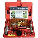 Boulder herramientas–56pc Heavy Duty Kit de reparación de neumático para coche, camión, tractor, ATV, motocicleta, Jeep. Soporte de reparación de pinchazos de neumáticos