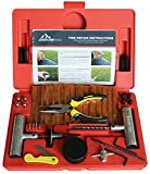 Boulder Tools Heavy Duty Tire Repair Kit – 56 PC Set für Motorrad, ATV, Jeep, LKW, Truck, Traktor, Landmaschine flach Tire Puncture Repair
