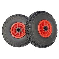 2 ruedas de repuesto para carretilla 3.00 - 4 (2 P.R), 260 x 85 mm