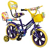#9: Loop Cycles Prime Purple 14 Inches Bicycle For Kids 3 to 5 Years Unisex With Side Wheels & Basket