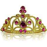 Princesas Disney - Diadema de princesa para niña, color rosa oscuro / oro, 3-11 años  (Katara 1682)