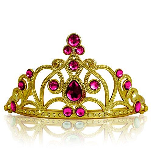 Katara 1682 - Prinzessin Diadem Krone, Verkleidung Kostüm, Fasching Karneval, Haarspange, (Rapunzel Kostüm Für Erwachsene)