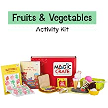 Magic Crate Activity Kit for 2+ Year-olds : My Fruit & Vegetable Friends (Contains 3 Activities and Storybook)