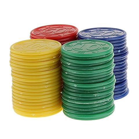 80 Jetons de Poker en Plastique -Machine de Jeu de