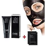 FACEAPEEL® Maschere facciali Cure Black Mask punti neri maschera peel off pulizia profonda Pore Purificante nero Testa anti acne Tipo strappo Blackhead Killer (60g) + 2PC maschera nasale immagine