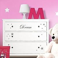 perGrandora W5222 adesivo murale dream + stelle adatto a IKEA