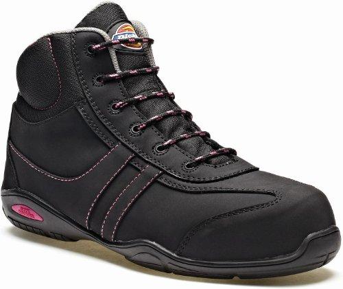 Dickies , Chaussures de ville à lacets pour femme Noir Noir Noir - Schwarz/Pink