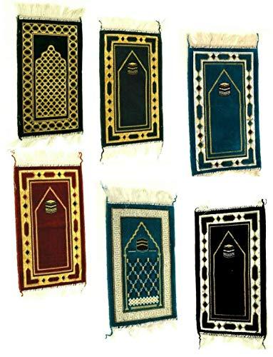 Kinder Gebetsteppich Saggada Seccade Namazlik Sejjada Moschee Kind Teppich Islam (Blau) - Islam-teppich