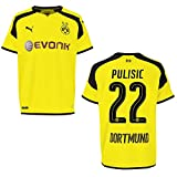 puma BVB BORUSSIA DORTMUND Trikot 3rd Herren 2016 / 2017 - PULISIC 22, Größe:L