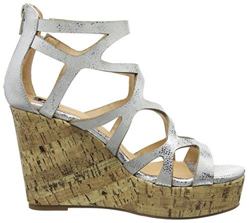 Giudecca Jycx15sb8-1, Sandales compensées sandales romaines femme argent (K1-1 Silver)
