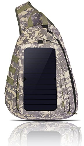 Tarnung Rucksack Solar Powered Tasche 6.5W Solar-Panel (Triangle)