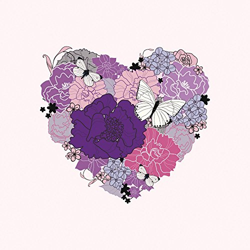 Apple iPhone 3Gs Case Skin Sticker aus Vinyl-Folie Aufkleber Herz Schmetterling Love Blumen DesignSkins® glänzend