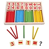 Lewo Baby Toys Counting Sticks Education Wooden Toys Building Intelligence Blocks Montessori Mathematical Wooden Box Chil Gift
