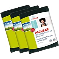 ALCLEAR 950003a ultramicrofibra Cloth for Screens and Glasses, 19x 14cm, Anthracite 3 Pieces - ukpricecomparsion.eu