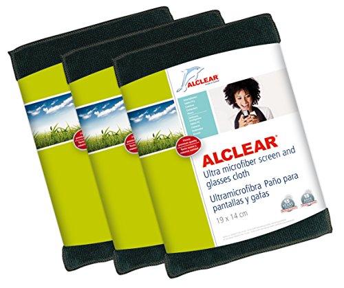 ALCLEAR 950003Tuch von Display Spezialtücher und Brille, 19x 14cm, anthrazit 3 Stück (Telefono Camara)