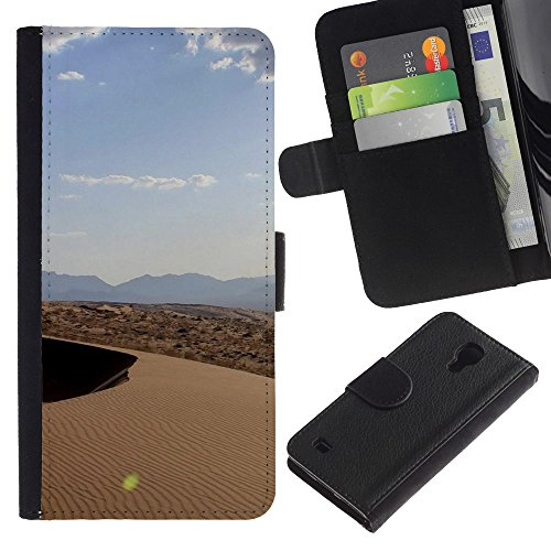 Lead-Star (Nature Beautiful Forrest Green 127) Colorful Printing Holster Mappen Beutel Haut Hülle Case Abdeckung Card Slots Für SAMSUNG Galaxy S4 IV / i9500 / SGH-i337