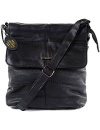 Ladies Leather Cross Body Bag / Shoulder Bag (Black, Tan, Dark Brown)