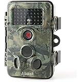 Wildlife cámara impermeable de vigilancia de, abask Trail Scouting cámara digital 3Zona Sensor de infrarrojos 12MP 1080P HD con Gran Angular de lapso de tiempo de 65ft 120° Visión Nocturna para Game & Caza