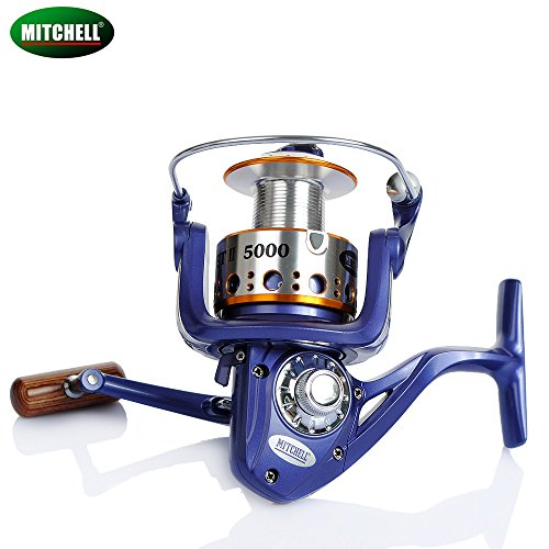 10, 4000 Serie: Mitchell Avocet 4000 5000 6000 9 + 1BB 5,2: 1 Freilaufrolle für Karpfen Spinning Fishing Reel Full Metal Line Cap mit grapphite Spule Tackle (Full Metal Cap)