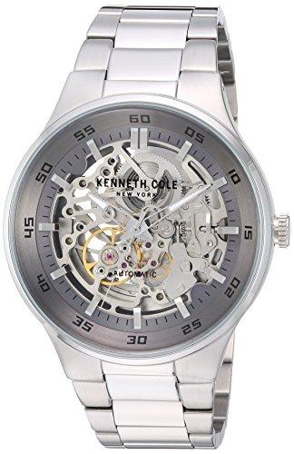 Kenneth Cole New York Men' s 'Borsa' automatico in acciaio INOX orologio da donna, colore: tonalità argentata (Model: KC14981005)
