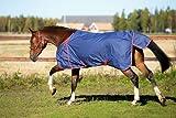 Kerbl 323622 Outdoor-Pferdedecke, 145 cm, marineblau / rot eingefasst - 2