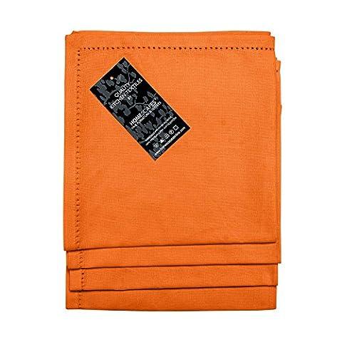Homescapes Servietten Set 4 teilig orange unifarben 45 x 45