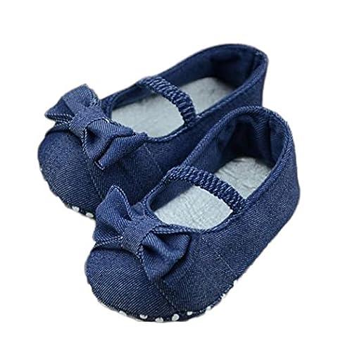 Yogogo - Chaussures Bébé - Chaussons Bébé - Princess Première Walkers - Semelles souples Sneaker - Chaussures enfant - Chaussures Premiers Pas - 0-12 Mois (11)