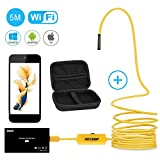 Endoskopkamera Wifi Wireless Wasserdicht Borescope Inspektionskamera 1200P HD Bild für iPhone, Samsung, Tablet von BEVA