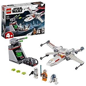 LEGO Star Wars - Asalto a la Trinchera del Caza Estelar Ala-X, juguete de construcción de nave espacial de La Guerra de las Galaxias (75235)
