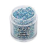 """C&I Paillettes Scintillantes, Poudre Pailletée Fantastique, Paillettes de Dimension 0,039"""", maquillage pour ongles, visage, cheveux, et corps (Bleu-Mer Fantastique)"""