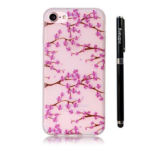 inShang iPhone 7 Plus Custodia 5.5 inch [Trasparente cover iPhone] [luminoso nel buio], comoda Cover posteriore di case di stile di protezione + inShang Logo pennino di alta classe 11