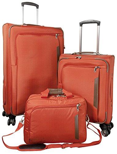 Kit de 3 valise de voyage nylon Maui Orange en nylon tissu plastique Sac à Roulettes Case FA. bowatex