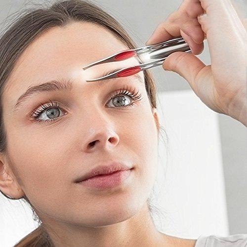Professionelle Pinzette Pinzette mit LED Licht. Ideal für Entfernen die Haare der Nase Ohr Augenbrauen und Bart oder andere Körperteile