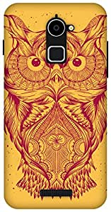 The Racoon Lean Orange Illustrated Owl hard plastic printed back case / cover for Coolpad Note 3 Lite