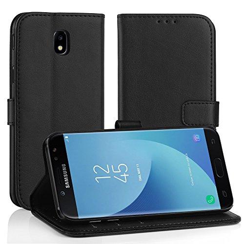 Simpeak Cover Samsung Galaxy j5 2017,Custodia Samsung Galaxy j5 2017 in Pelle Portafoglio con Supporto,Cover Samsung j5 2017,Custodia Samsung j5 2017,Nero