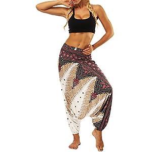Yoga-Hose Beiläufige Sommer Lose Baggy Boho Aladdin Jumpsuit Harem Pants Männer und Frauen Tragen Lose Hosen Große Gabelungshosen Sporthosen