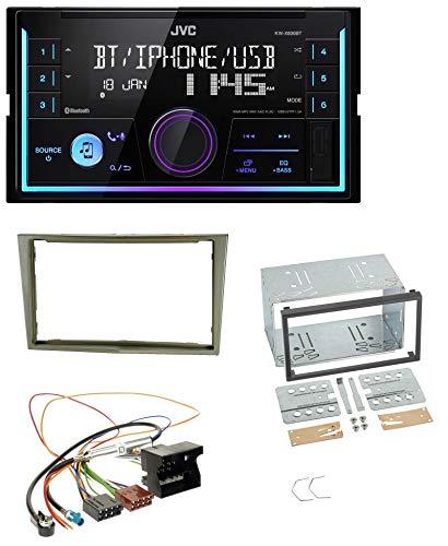 caraudio24 JVC KW-X830BT AUX 2DIN USB MP3 Bluetooth Autoradio für Opel Corsa D Astra H Zafira B Satin-Stone