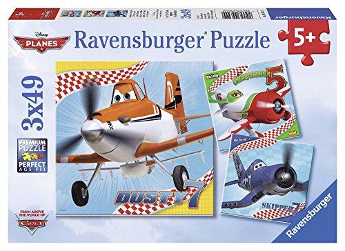 Ravensburger 09322 - Disney Planes: Dusty und Freunde - 3 x 49 Teile Puzzle